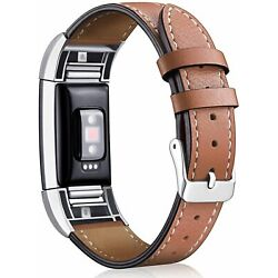 For Fitbit Charge 2 Replacement Bands, Hotodeal Classic Genuine Leather Wristban