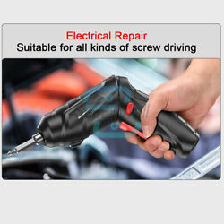 Electric Cordless Screwdriver Drill Screw Driver LED Light USB Rechargeable Tool