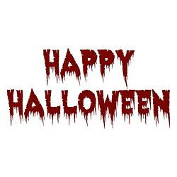 Happy Halloween Decal - Holiday Greeting Sticker- Choose Color Size