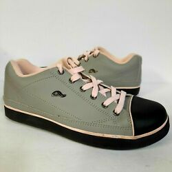 VINTAGE ADIO SELEGO GREY PINK BLACK SKATE SHOES SNEAKERS MENS SIZE 9 LACE RARE