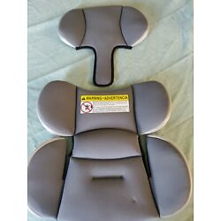 EUC GRACO 4EVER BABY CARSEAT INSERT Dark Gray/Silver Sides Replacement Insert