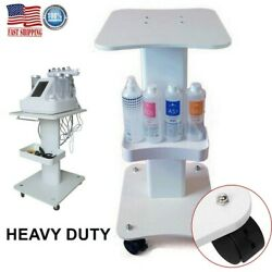 Beauty Salon Machine Stand Rolling Cart Beauty SPA Apparatus Trolley Holder ABS