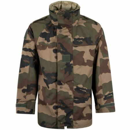 img-French Army Issue GoreTex Style Waterproof Jacket NO POCKETS CCE Camo Grade 1
