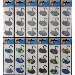 12 packages of Prismatic Swan Stickers PPZ2105,