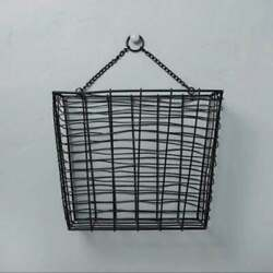 NEW Target Hearth and Hand Hanging Metal Wire Black Storage Basket Magnolia