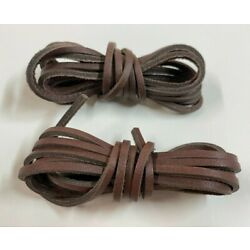 ONE PAIR  DARK BROWN - 72'' Rawhide Leather Shoelaces Strings Shoe Boot Laces