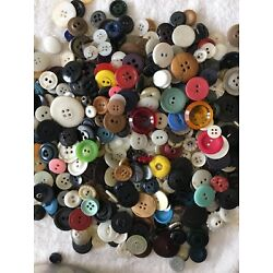Vtg Old Buttons Lot Of 150+ Mixed Colors Sizes Includes Brights Sewing Crafts