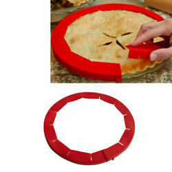 90CM Silicone Adjustable Pie Crust Shield Protector Kitchen Gadget Fit 8'' -11.4''