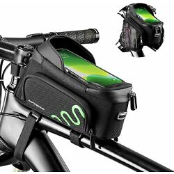 ROCKBROS Bicycle Front Top Tube Bag Double-sided Expandable MTB Bike Frame Bags