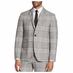 NEW Savile Row Co Camden Gray Glenplaid Two Button Skinny Fit Suit Jacket 42S