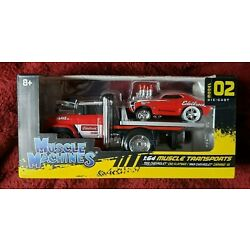 NEW! muscle machines muscle transport edelbrock hauler WITH camaro ( model 02 )