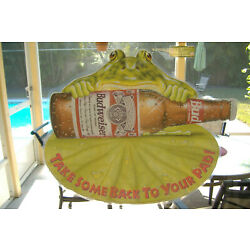 Budweiser Frogs Vinyl Static Cling Window Sticker (Bring some back to your pad)