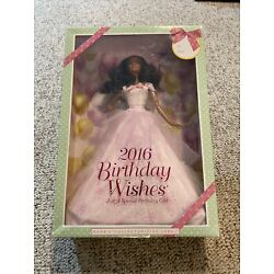 2016 BIRTHDAY WISHES PINK LABEL LATINA BARBIE DOLL NEW IN PACKAGE *shelf Wear*