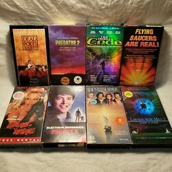 8 VHS TAPES LOT Lawnmower Man 2, Project X UFOs Code Predator 2 Thriller