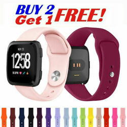 For Fitbit Versa 1/ 2 /Lite Sport Silicone Strap Bracelet Soft Rubber Watch Band