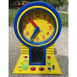 LEARNING RESOURCES TALKING CLEVER CLOCK - LEARN TO TELL TIME EDUCATIONAL CLOCK