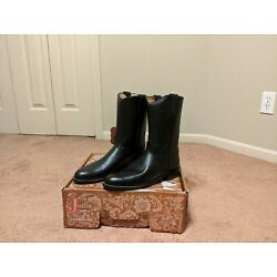 Justin Black Leather Roper Cowboy Boots Womens Size 8.5 B Style L3703 USA