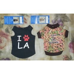 2 Outfits XX-Small Casual Canine Dog LA City Tank & Bad To The Bone Tee New