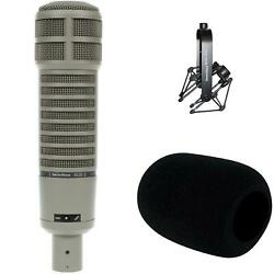 Electro-Voice RE20 Broadcast Microphone with Shockmount and Windscreen