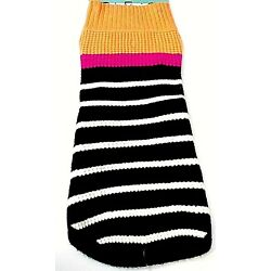 Boots & Barkley Dog Sweater Size Large Up To 90 Pounds Multicolor Stripes