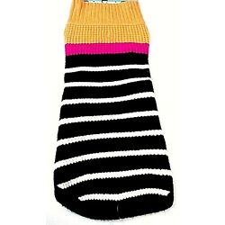 Boots & Barkley Dog Sweater Size Medium Up To 50 Pounds Multicolor Stripes