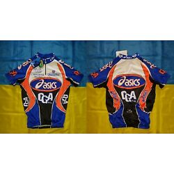 NWT ASICS BIKE TEAM TONELLO ITALY MADE CYCLING SHIRT SIZE MEN'S ADULT L