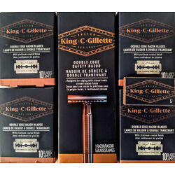 King C Gillette Double Edge Safety Razor With 50 Blades-Free FirstClass Shipping