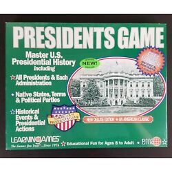 Learning Games Presidents Game New Sealed Home School History Educational 2007