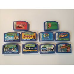 Leap Frog Leapster Cartridge Lot of 10 Learning Games Star Wars Scooby Doo Cars