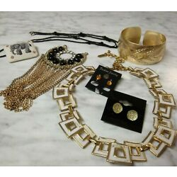 Small Mixed Costume Jewelry Lot All Wearable Vtg Now -Plz Read