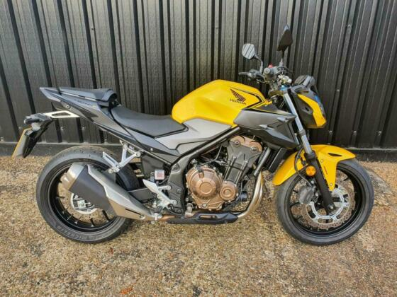 2021 Honda CB500F ABS Demonstrator Available to Ride! Petrol yellow Manual