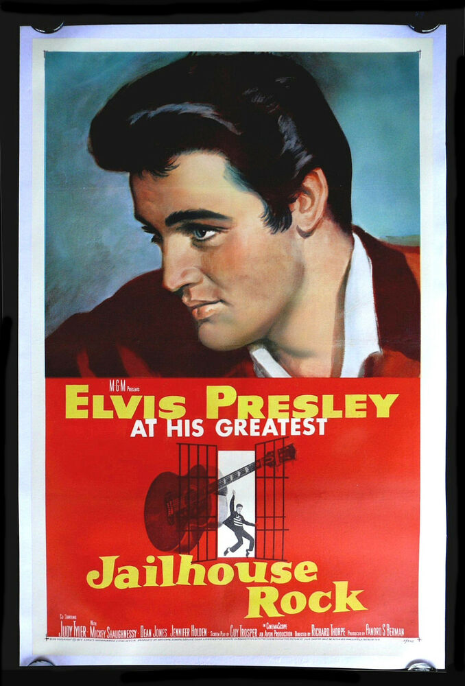 JAILHOUSE ROCK * CineMasterpieces 1957 ORIGINAL MOVIE ...