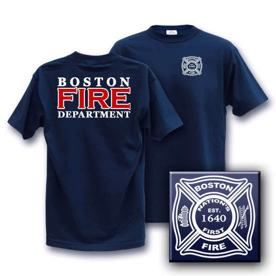 BOSTON FIRE DEPARTMENT MEDIUM Duty Crew T-Shirt | EBay
