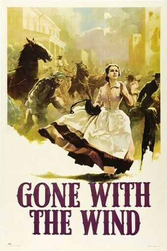 GONE WITH THE WIND MOVIE POSTER Clark Gable VINTAGE 13   eBay