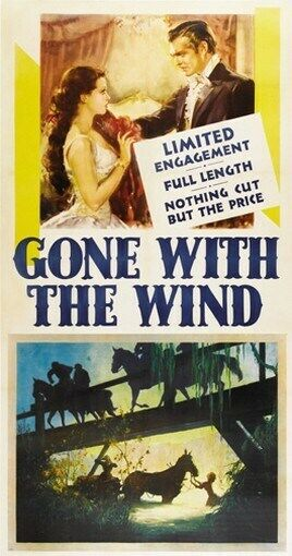 GONE WITH THE WIND MOVIE POSTER Clark Gable VINTAGE 11 | eBay