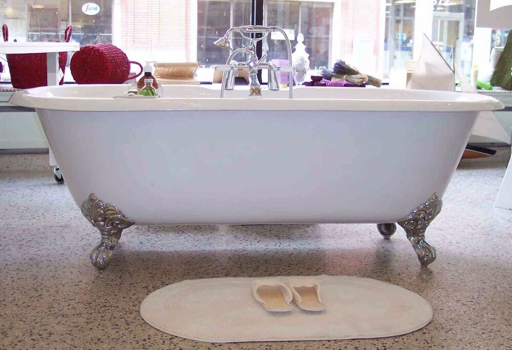 claw foot bath cast iron clawfoot foot claw bath tub bathtub ebay 29837