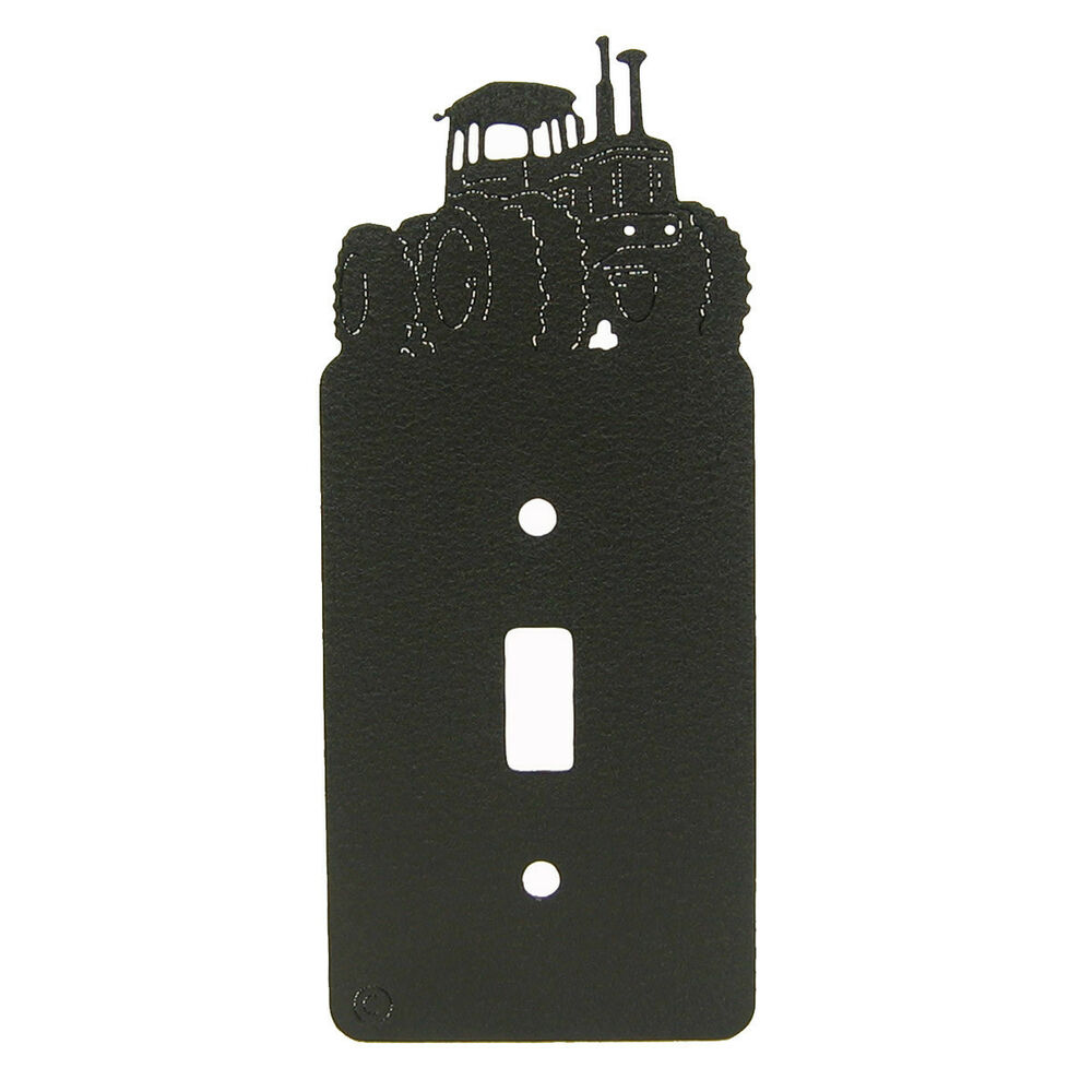 Light Switch Plate Cover: Four Wheel Drive 4WD Tractor Single Light Switch Plate