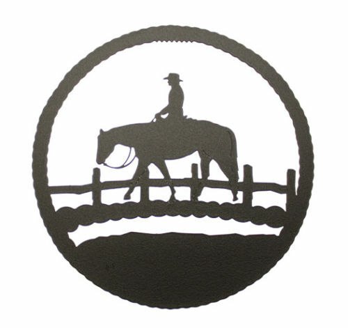 Round Black Wall Decor : Trail horse black metal round wall decor