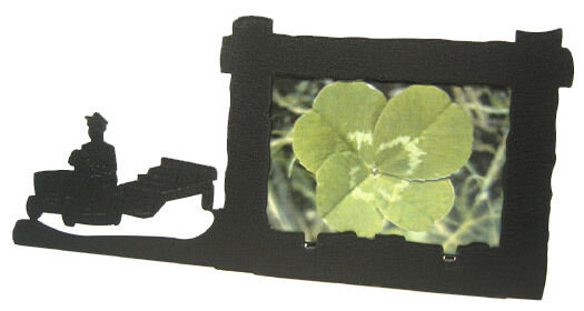 Lawn Tractor Frames : Lawn tractor pull black metal h picture frame ebay