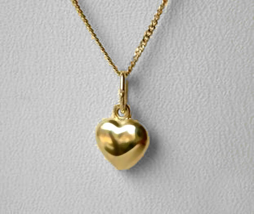 echt gold kinder herz collier kette 38 40 cm ebay. Black Bedroom Furniture Sets. Home Design Ideas