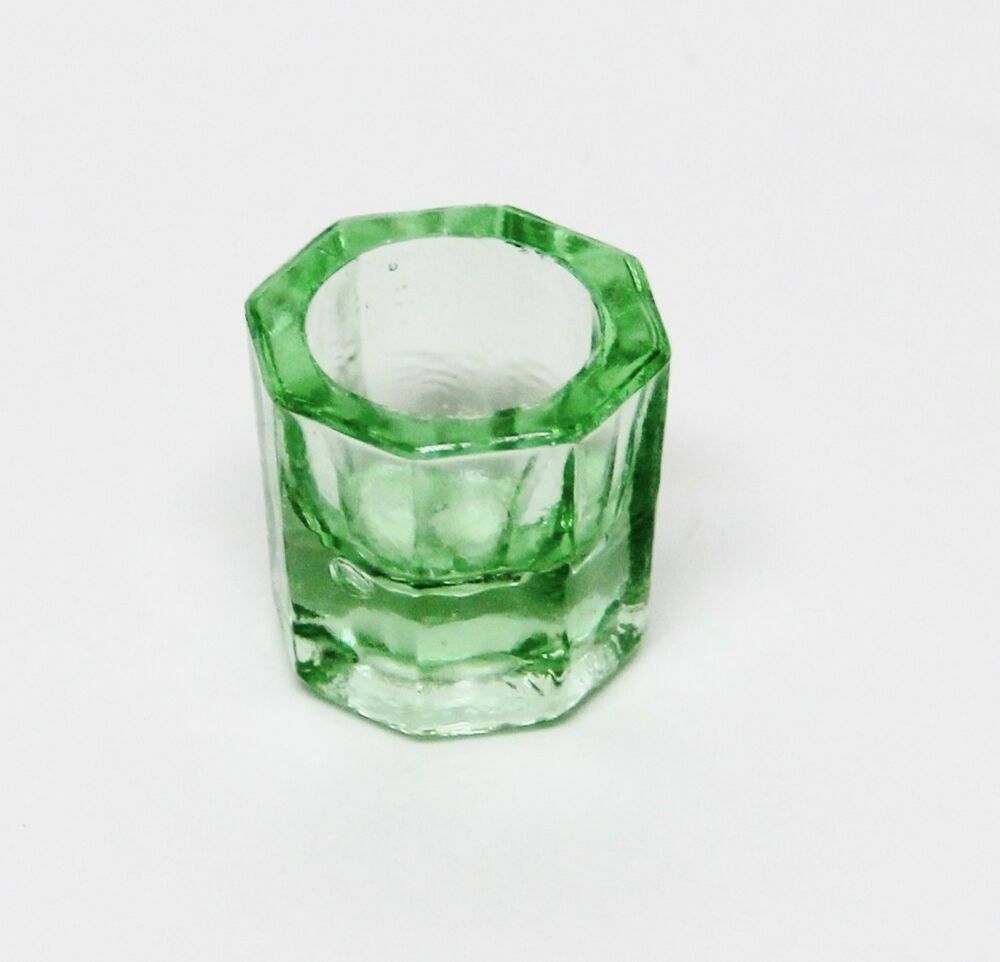 Glass dappen dish green acrylic liquid holder container for Glass or acrylic