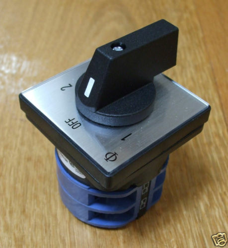 Mains 240v Power Selector Switch 32amp  2 Pole 2 Way Pss032