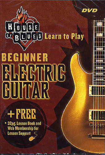 house of blues beginner electric guitar dvd book learn ebay. Black Bedroom Furniture Sets. Home Design Ideas