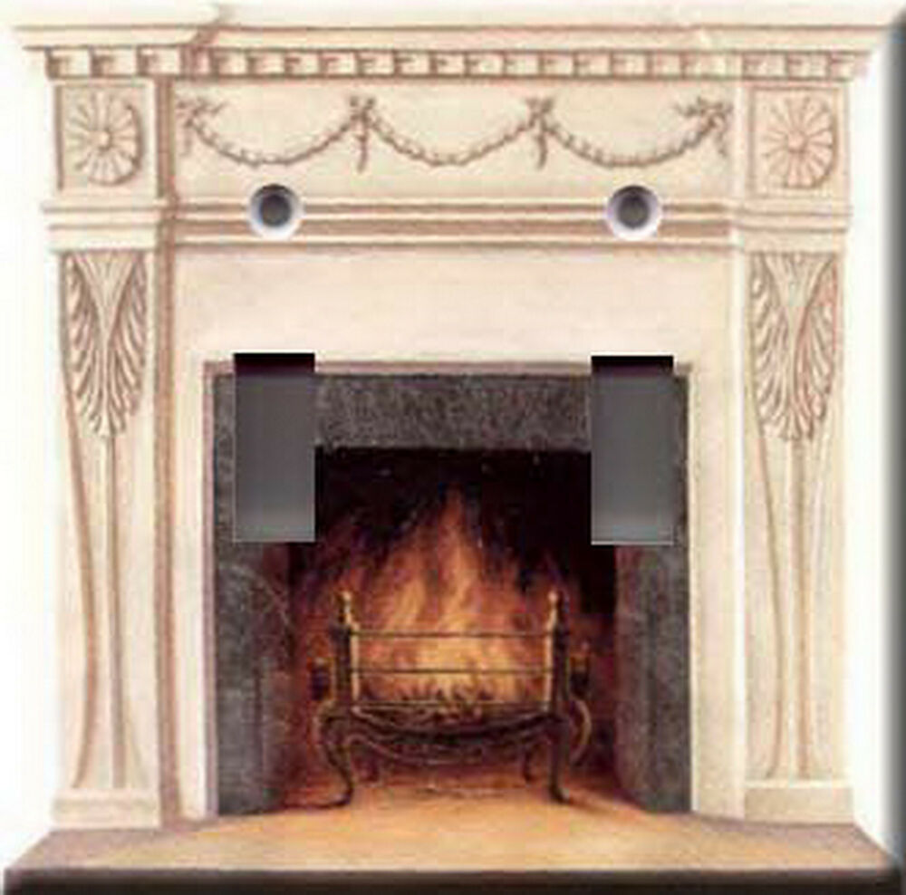 Hearth Covers: FIREPLACE ACCENT DOUBLE LIGHT SWITCH PLATE COVER