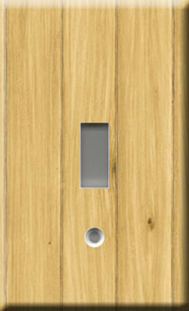 Light Wood Paneling: Single Light Switch Plate Cover - Wood Panel