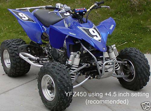 yamaha yfz 450 a arms shocks atv widening kit 2004 05 ebay. Black Bedroom Furniture Sets. Home Design Ideas