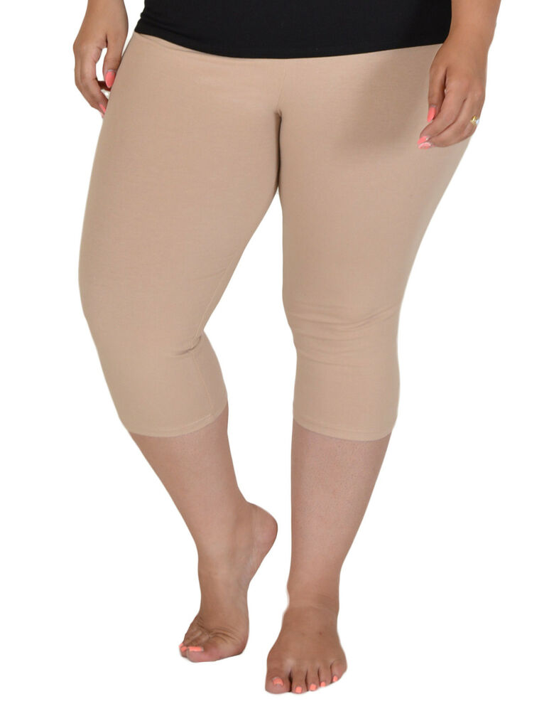 Plus Size Knee Length Leggings