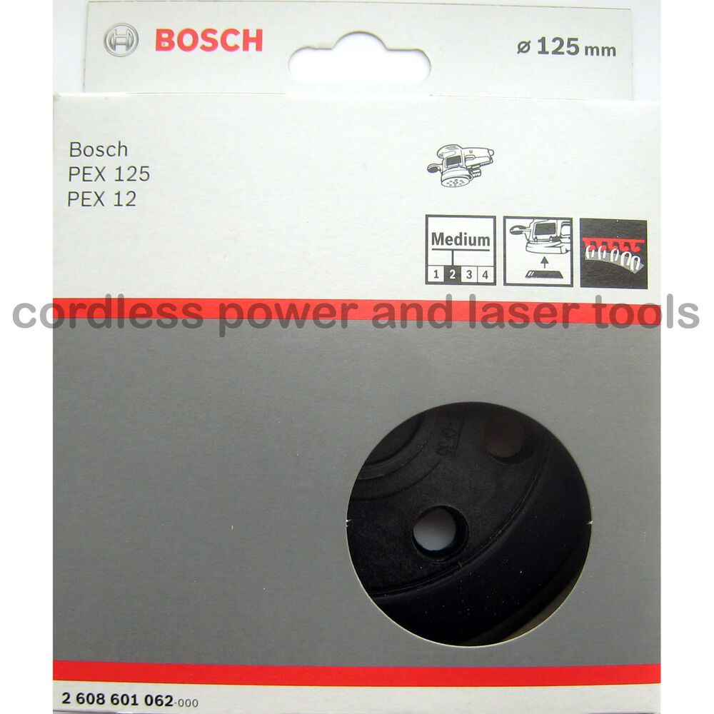 bosch medium sanding backing rubber pad plate for pex 12 125 a ae 2 608 601 062 ebay. Black Bedroom Furniture Sets. Home Design Ideas