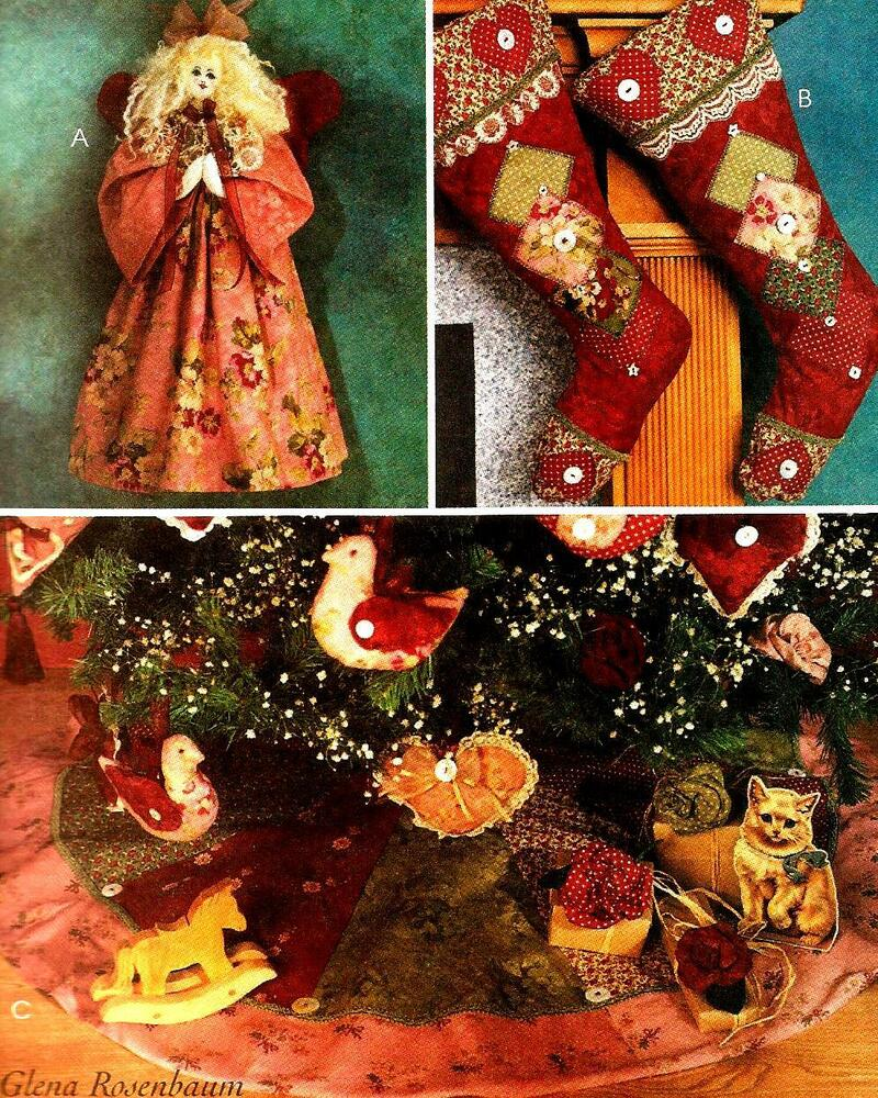 2001 Christmas Stocking Orny Ornament Tree Skirt Pattern McCall's 3426 ...