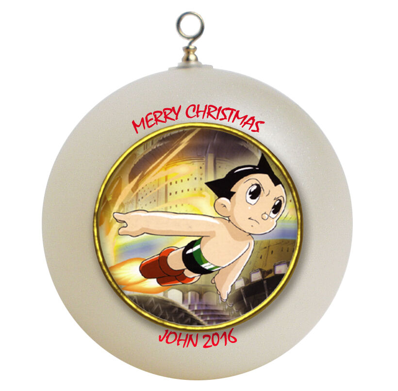 Personalized astro boy christmas ornament add your name ebay for Personalized christmas photo ornaments